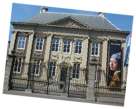 Sightseeing the Mauritshuis whilst in The Hague on a Guided Tour